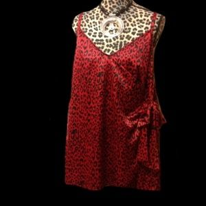 Torrid Red Leopard Animal Retro Chic Pin Up